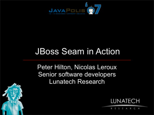 Seam In Action presentation slides (PDF)